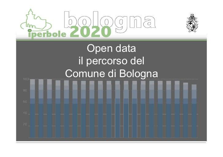 Open data  il percorso delComune di Bologna