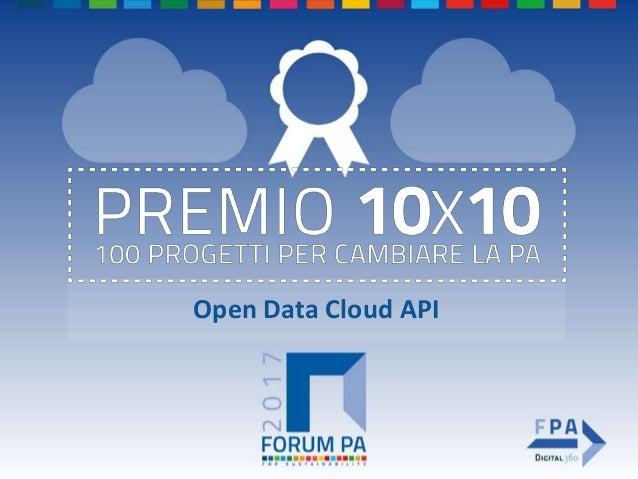 Open Data Cloud API