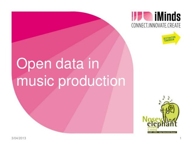 Open data in   music production3/04/2013             1