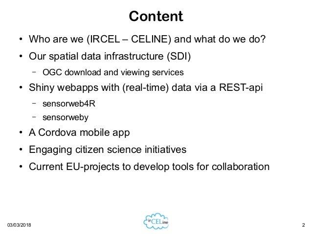 Hosting open data endpoints at IRCEL-CELINE serving air quality data from the three Belgian regional government measurement networks Slide 2