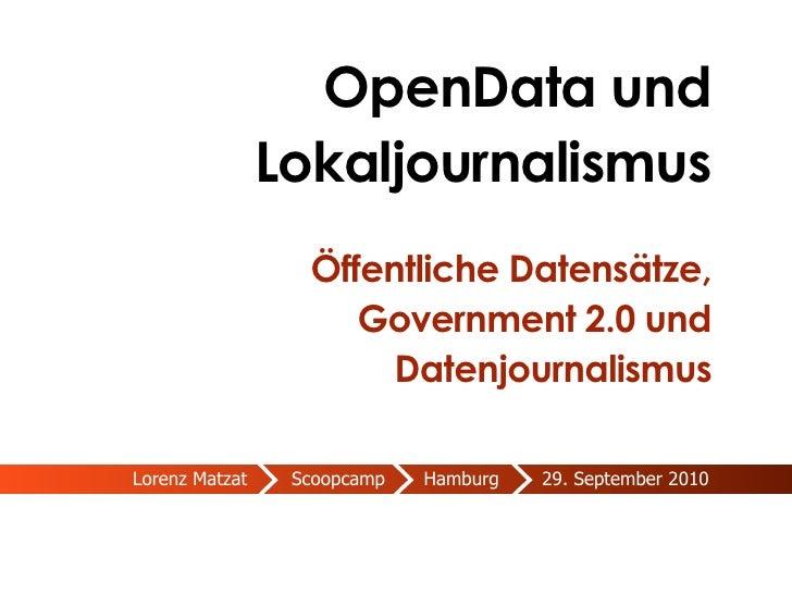 OpenData und Lokaljournalismus | Scoopcamp HH 2010