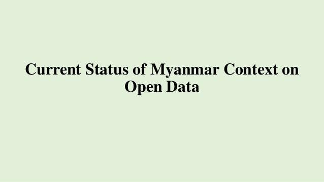 Current Status of Myanmar Context on Open Data