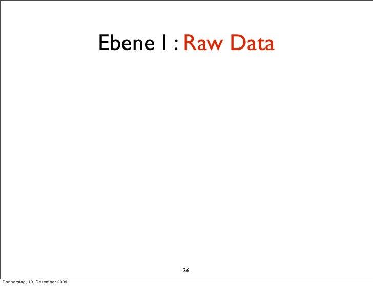 Ebene I : Raw Data                                             26 Donnerstag, 10. Dezember 2009
