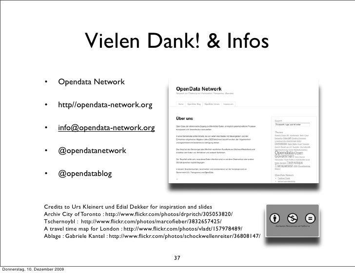 Vielen Dank! & Infos                    •      Opendata Network                     •      http//opendata-network.org     ...