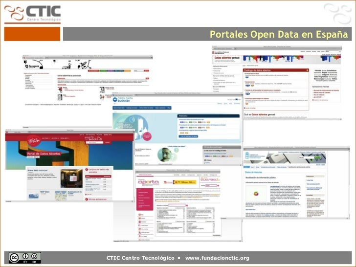 Portales Open Data en EspañaCTIC Centro Tecnológico •   www.fundacionctic.org