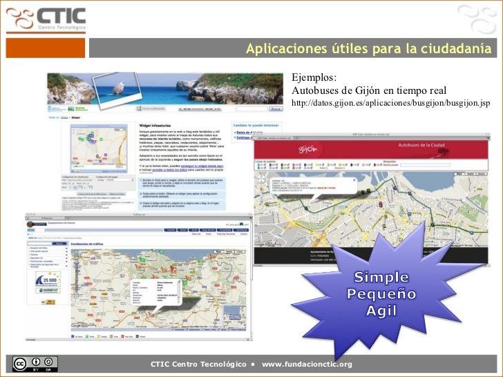 Aplicaciones útiles para la ciudadanía                                  Ejemplos:                                  Autobus...