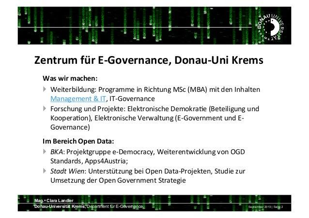 Open Data  Spielwiese der Informationen Slide 2