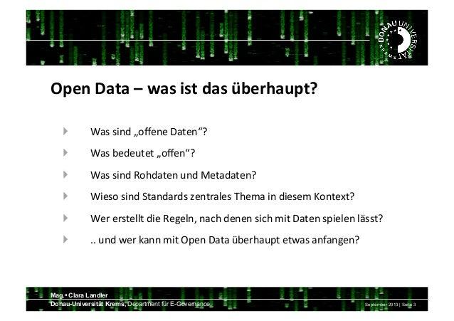 Open Data  Spielwiese der Informationen Slide 3
