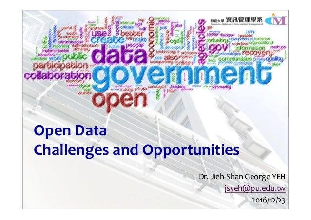 Open Datav Challenges and Opportunities