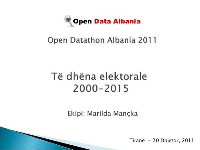 Tirane - 20 Dhjetor, 2011 Open Data Albania