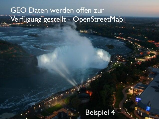 GEO Daten werden offen zur Verfügung gestellt - OpenStreetMap  Beispiel 4