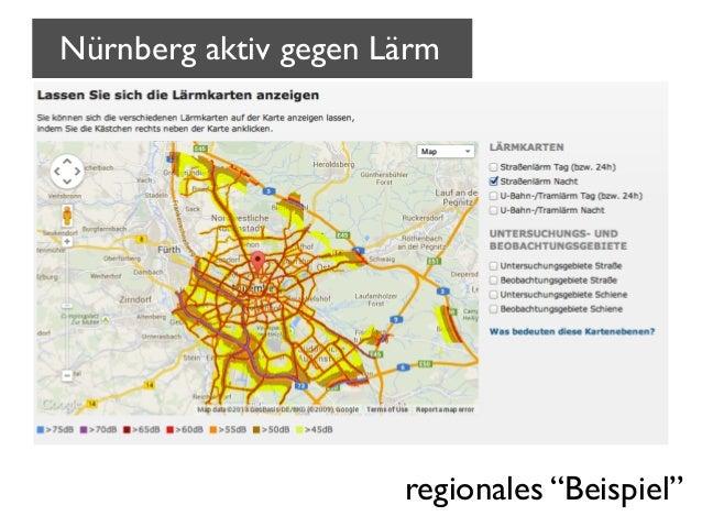 """Nürnberg aktiv gegen Lärm  regionales """"Beispiel"""""""