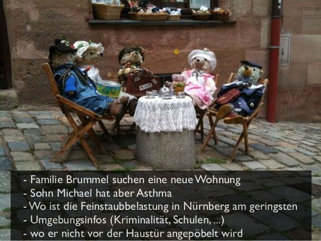 - Familie Brummel suchen eine neue Wohnung - Sohn Michael hat aber Asthma - Wo ist die Feinstaubbelastung in Nürnberg am g...