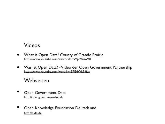 Videos  •  What is Open Data? County of Grande Prairie  •  Was ist Open Data? - Video der Open Government Partnership  htt...