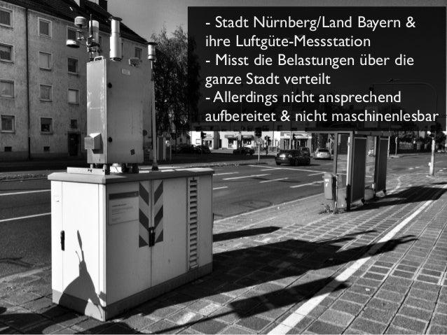 - Stadt Nürnberg/Land Bayern & ihre Luftgüte-Messstation - Misst die Belastungen über die ganze Stadt verteilt - Allerding...