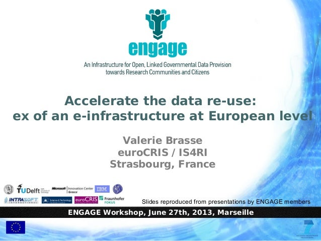 ENGAGE Workshop, June 27th, 2013, Marseille Accelerate the data re-use: ex of an e-infrastructure at European level Valeri...