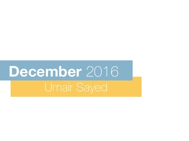Umair Sayed December 2016