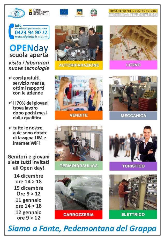 OPENday  scuola aperta visita i laboratori nuove tecnologie ✔ corsi gratuiti,  servizio mensa, ottimi rapporti con le azie...