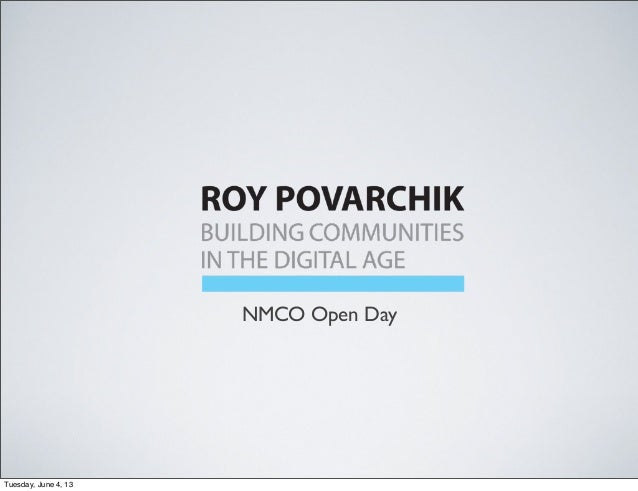 NMCO Open DayTuesday, June 4, 13