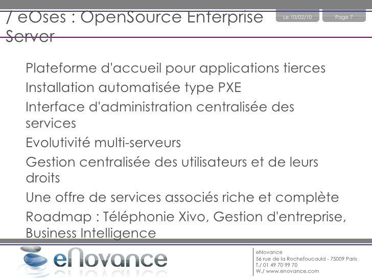 / Le SI en entreprise Besoin Solutions Réseau & Sécurité FW, DNS, DHCP, VPN, Proxy, IDS, Anti-virus Gestion de la connaiss...