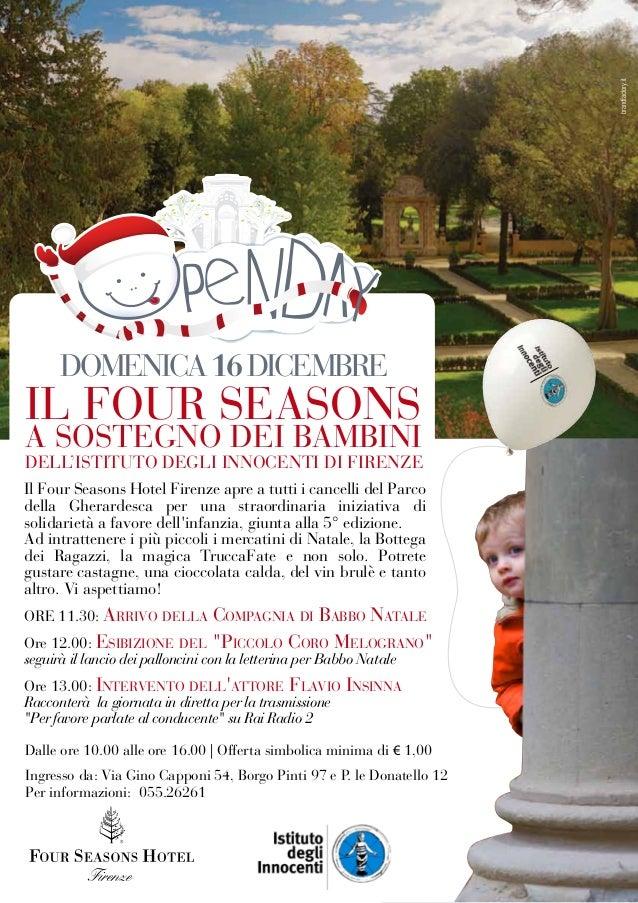 brandfactory.it                        DOMENICA 16 DICEMBRE                  IL FOUR SEASONS                  A SOSTEGNO D...