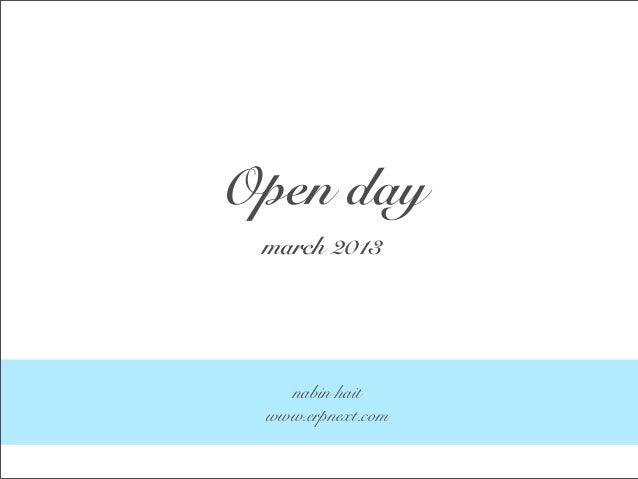Open day march 2013   nabin hait www.erpnext.com