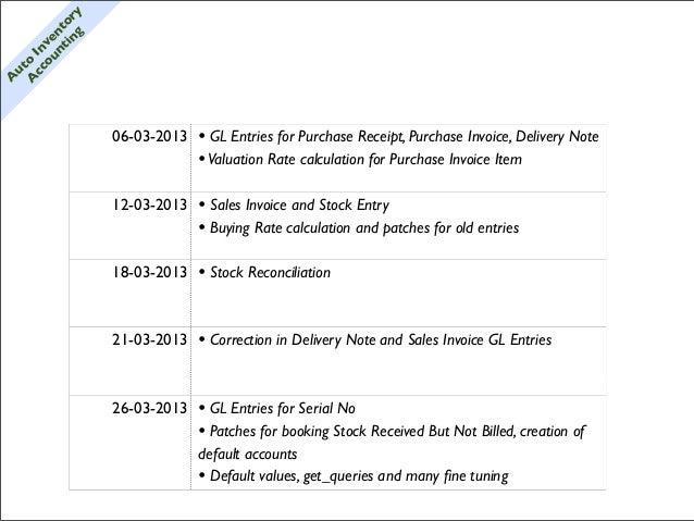 g y           i n or         nt nt       ou ve     cc n    A oIutA                    06-03-2013   • GL Entries for Purcha...