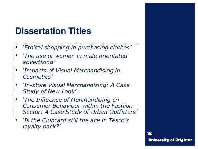 fashion dissertation titles