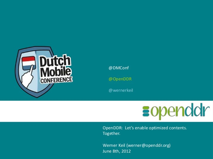 Let's enable optimized contents. Together. Werner Keil ( [email_address] )   Nov  4 th , 2011