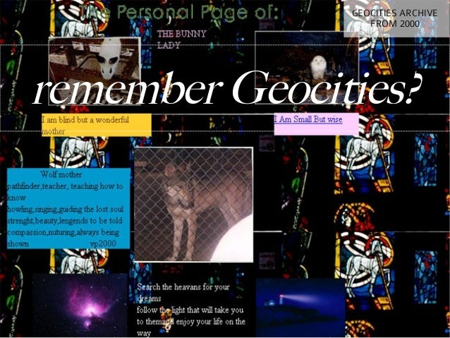 GEOCITIES ARCHIVE                  FROM 2000remember Geocities?