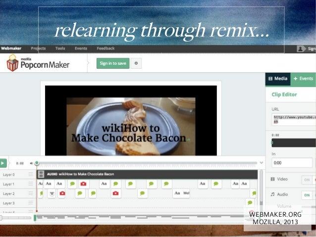 relearning through remix...                        WEBMAKER.ORG                         MOZILLA, 2013
