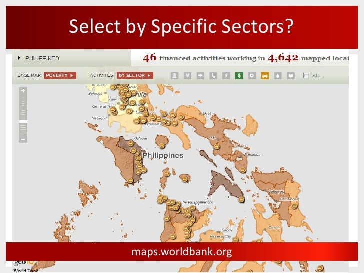 Select By Specific Sectors Maps Worldbank Org