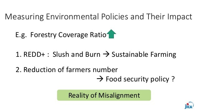 Measuring Environmental Policies and Their Impact E.g. Forestry Coverage Ratio 1. REDD+ : Slush and Burn  Sustainable Far...