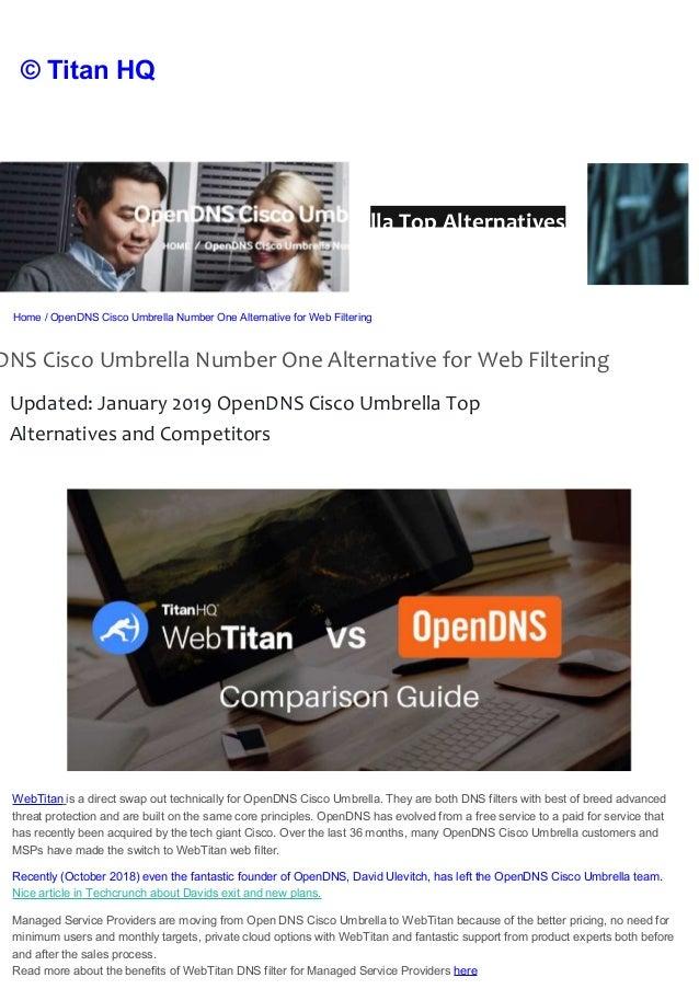 OpenDNS Cisco Umbrella Alternatives for Business 2019