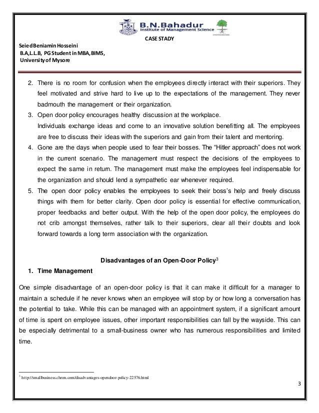Open door policy (business)