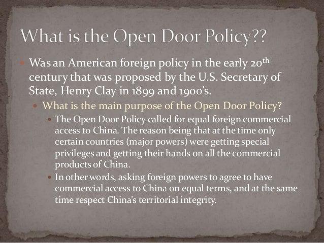 Open door policy in china