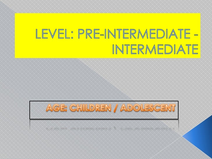 LEVEL: PRE-INTERMEDIATE - INTERMEDIATE<br />AGE: CHILDREN / ADOLESCENT<br />