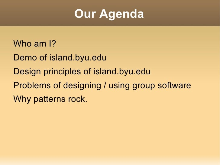 Our Agenda <ul><li>Who am I?