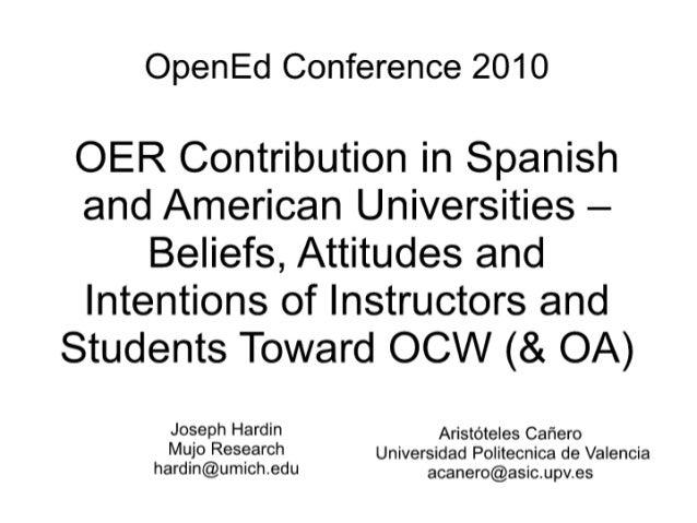 OpenEd2010 hardin canero - OCW Contributions