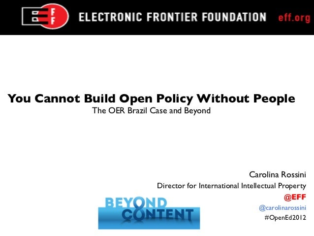 You Cannot Build Open Policy Without People	             The OER Brazil Case and Beyond	                                  ...
