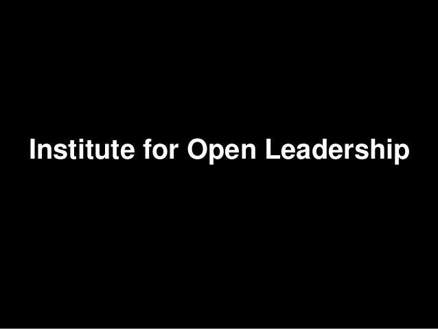 Institute for Open Leadership