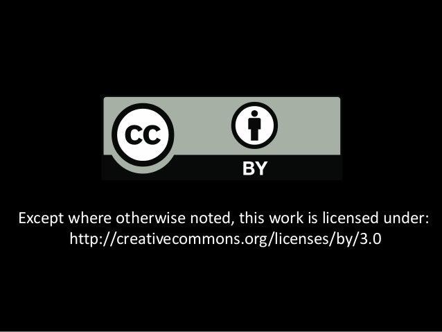 Open Education 2013: CC Update Slide 2
