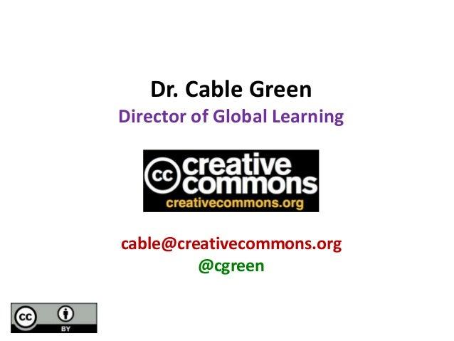 Open Education 2013: CC Update