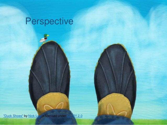 """""""Duck Shoes"""" by Nick Lee is licensed under CC BY 2.0 Perspective"""
