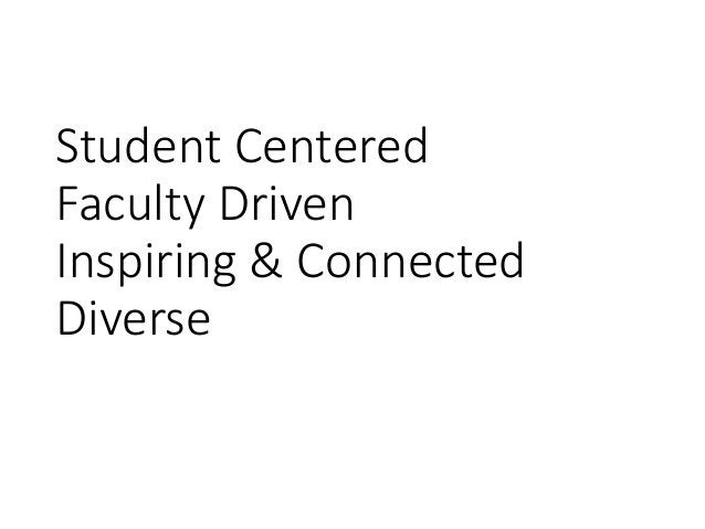 Student Centered Faculty Driven Inspiring & Connected Diverse