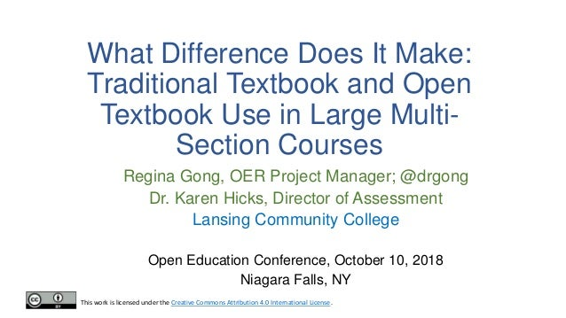 Lcc Fall Semester 2020.What Difference Does It Make Traditional Textbook And Open