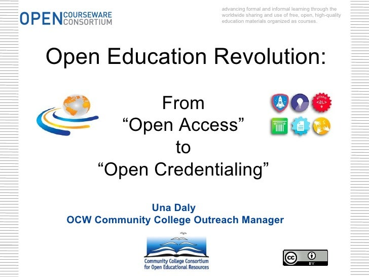 advancing formal and informal learning through the                            worldwide sharing and use of free, open, hig...
