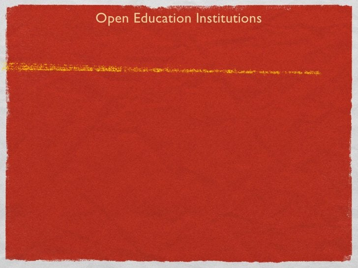Open Education Institutions