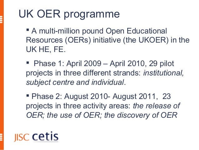 Developing a sustainable OER ecosystem in HE Slide 2