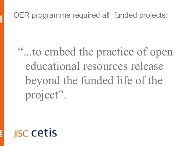 Developing a sustainable OER ecosystem in HE Slide 3